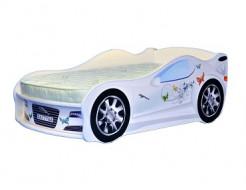 Кровать машина Jaguar для девочек 70х150 ДСП - интернет-магазин tricolor.com.ua