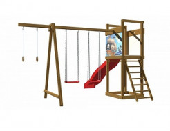 Детская деревянная площадка SportBaby-4 - интернет-магазин tricolor.com.ua