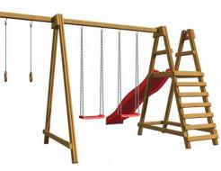 Детская площадка из дерева SportBaby-3 - интернет-магазин tricolor.com.ua