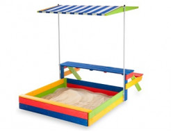 Детская деревянная песочница-20 - интернет-магазин tricolor.com.ua