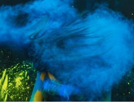 Краска Холи голубая - изображение 2 - интернет-магазин tricolor.com.ua
