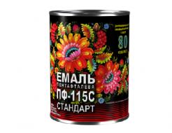 Купить Эмаль алкидная ПФ-115С Стандарт Спектр красно-коричневая