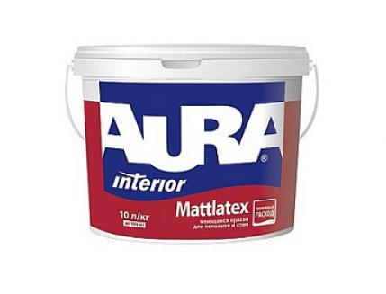 Краска матовая моющаяся интерьерная Aura Mattlatex