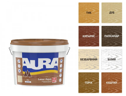 Лазурь для дерева Aura Lasur Aqua каштан - изображение 2 - интернет-магазин tricolor.com.ua