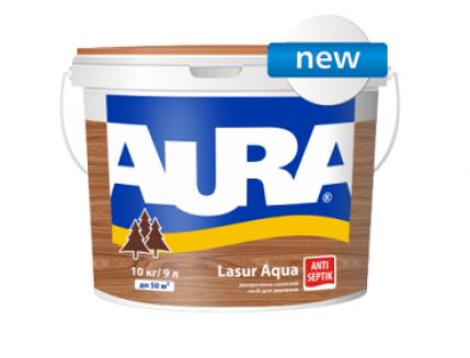 Лазурь для дерева Aura Lasur Aqua кипарис - интернет-магазин tricolor.com.ua