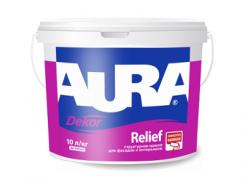 Краска структурная с мраморной крошкой для фасадов и интерьеров Aura Dekor Relief