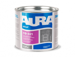 Грунтовка антикоррозионная алкидная Aura ГФ-021 серая