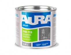 Эмаль универсальная алкидная Aura ПФ-115 темно-серая
