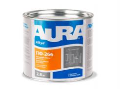 Эмаль износостойкая для пола Aura ПФ-266 красно-коричневая