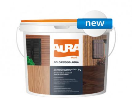 Состав декоративно-защитный для древесины Aura ColorWood Aqua белый - интернет-магазин tricolor.com.ua