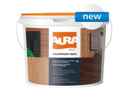 Состав декоративно-защитный для древесины Aura ColorWood Aqua белый