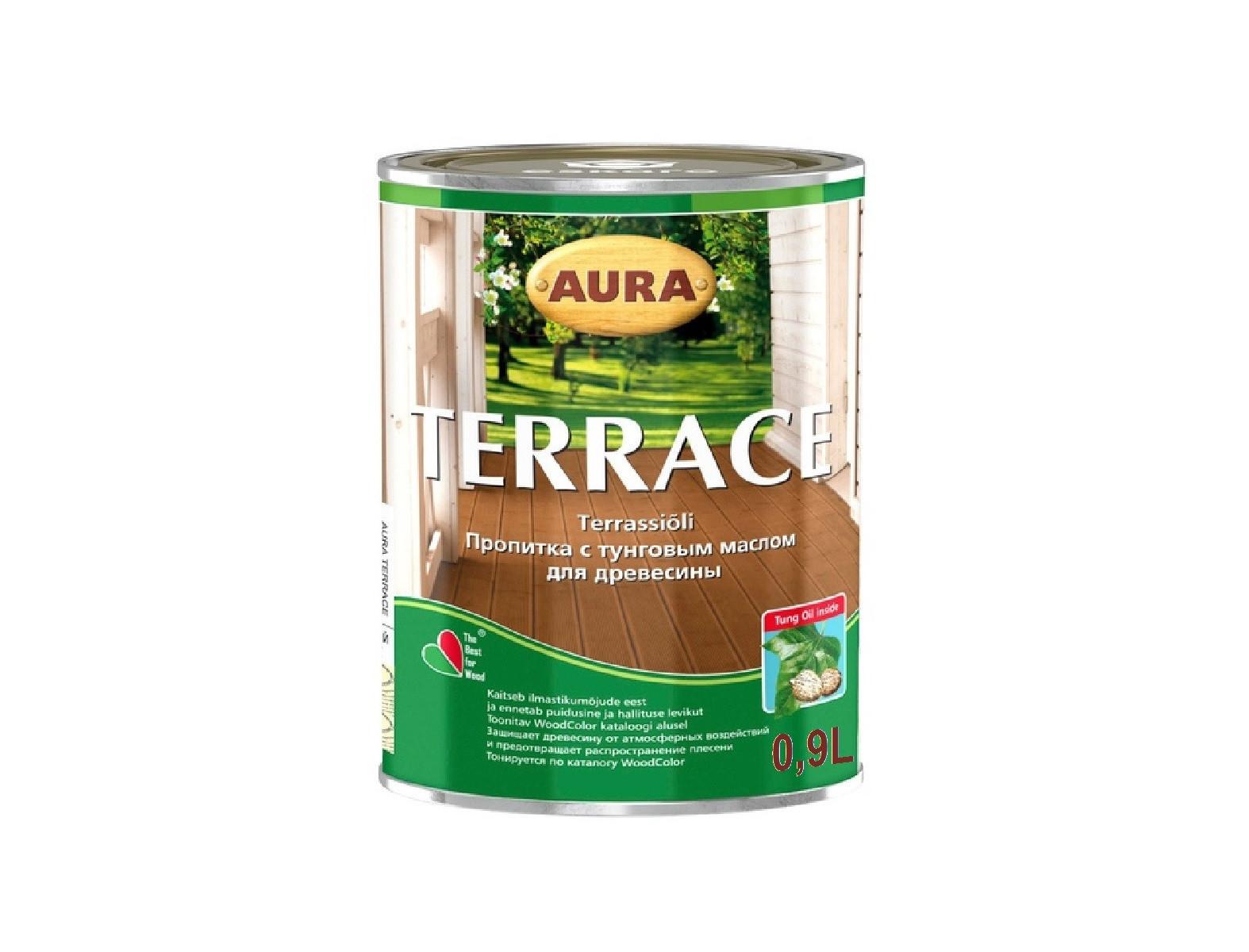 Масло декоративно-защитное для терасс Aura Terrace - изображение 2 - интернет-магазин tricolor.com.ua