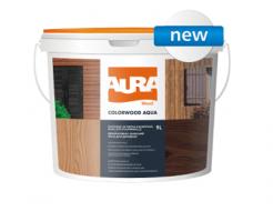 Состав декоративно-защитный для древесины Aura ColorWood Aqua орех
