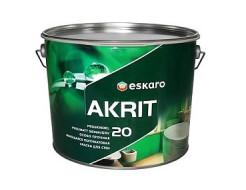 Краска моющаяся полуматовая для стен Eskaro Akrit 20