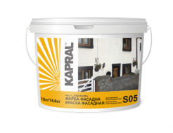 Купить Краска акриловая матовая фасадная Kapral S05 белая