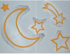Купить Декор для жидких обоев Луна,звезды,комета набор 5 шт