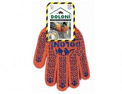 Купить Перчатки трикотажные с ПВХ рисунком (пара) Doloni 526 размер XL - 1