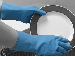 Купить Перчатки химстойкие из природного каучука (пара) Matrix Household POL 151-MAT размер M - 1