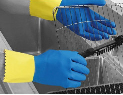 Перчатки химстойкие с двойным напылением (пара) Duo Plus POL RU560/09 размер L - интернет-магазин tricolor.com.ua