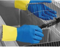 Перчатки химстойкие с двойным напылением (пара) Duo Plus POL RU560/10 размер XL - интернет-магазин tricolor.com.ua