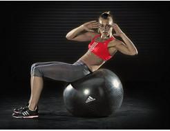 Купить Мяч гимнастический (фитбол) ADBL-12247 чёрный - 1