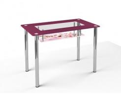 Стеклянный обеденный стол S3 910*610 покраска - интернет-магазин tricolor.com.ua