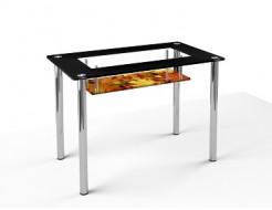 Стеклянный обеденный стол S3 1100*650 покраска - интернет-магазин tricolor.com.ua