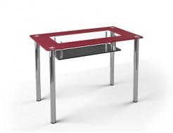 Стеклянный обеденный стол S3 1200*750 покраска - интернет-магазин tricolor.com.ua