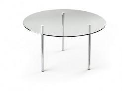 Купить Стеклянный обеденный стол R1 900*900 прозрачный