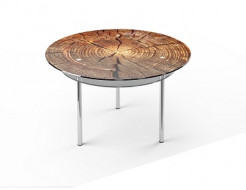 Стеклянный обеденный стол R2 900*900 покраска - интернет-магазин tricolor.com.ua