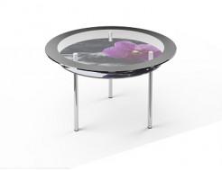 Стеклянный обеденный стол R2 1100*1100 покраска - интернет-магазин tricolor.com.ua