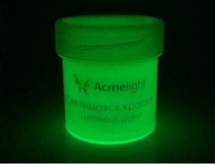 Краска светящаяся AcmeLight для творчества белая - изображение 2 - интернет-магазин tricolor.com.ua
