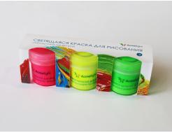 Набор люминесцентных красок для творчества AcmeLight 3 шт - интернет-магазин tricolor.com.ua