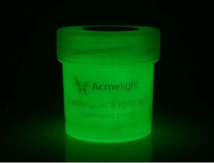Краска люминесцентная AcmeLight для творчества классик свечение зеленое - изображение 2 - интернет-магазин tricolor.com.ua