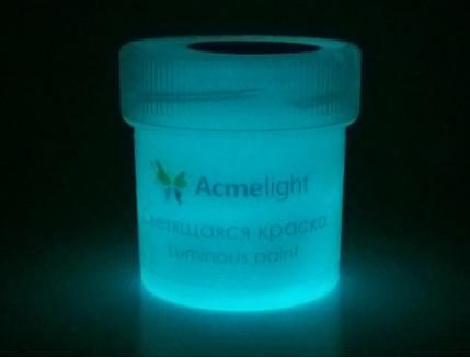 Краска люминесцентная AcmeLight для творчества классик свечение голубое - изображение 2 - интернет-магазин tricolor.com.ua