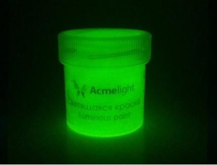 Краска люминесцентная AcmeLight для творчества желтая - изображение 2 - интернет-магазин tricolor.com.ua