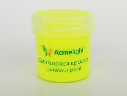 Краска люминесцентная AcmeLight для творчества желтая - интернет-магазин tricolor.com.ua