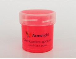 Краска люминесцентная AcmeLight для творчества красная - интернет-магазин tricolor.com.ua