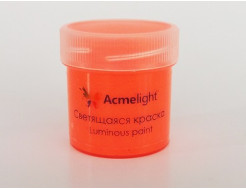 Краска светящаяся AcmeLight для творчества оранжевая - интернет-магазин tricolor.com.ua