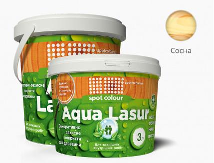 Лазурь для дерева акриловая Spot Colour AquaLasur сосна