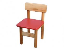 Купить Стул деревянный цветной красный