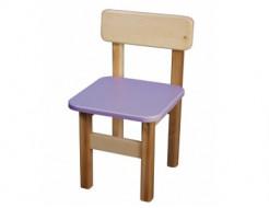 Купить Стул деревянный цветной фиолетовый