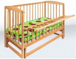 Кровать детская на шарнирах с откидной боковиной 1200х600