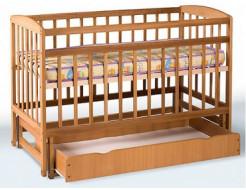 Кровать детская на шарнирах с откидной боковиной и ящиком+подшипник 1200х600