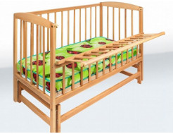 Купить Кровать детская на шарнирах с откидной боковиной на подшипнике 1200х600 - 1