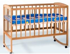 Кровать детская з дугами+колеса 1200х600