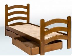Купить Кровать одноярусная с фигурными  спинками 1900х800
