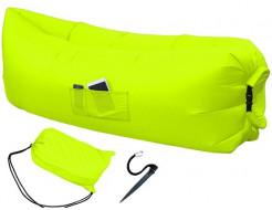 Купить Надувной шезлонг-лежак.top standart желтый неон - 1