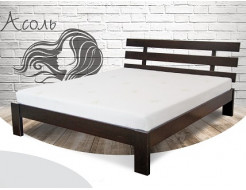 Кровать Ассоль 90х190 бук, цвет натуральное дерево - интернет-магазин tricolor.com.ua