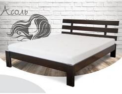 Кровать Ассоль 140х200 бук, цвет натуральное дерево - интернет-магазин tricolor.com.ua
